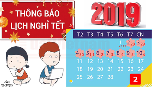 VietlawOnline || Announcement of schedule of holidays in 2019